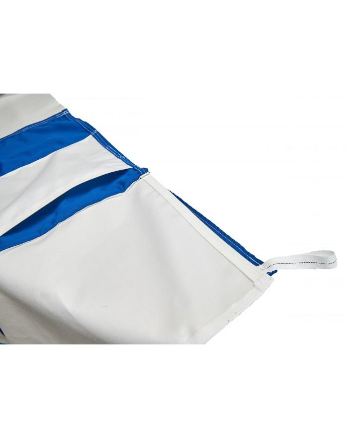 Toile NOMEX bleue avec molleton